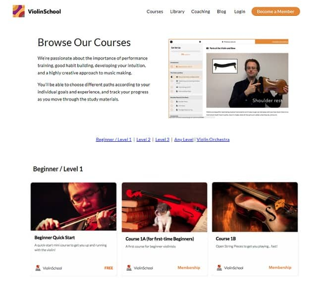 ViolinSchool Learn Violin Online
