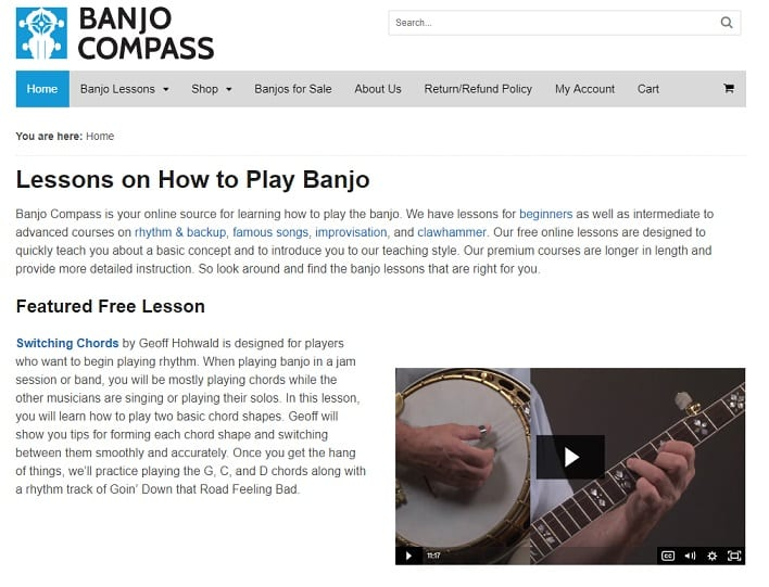 banjocompass Learn Banjo Online