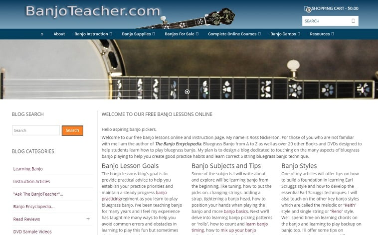 banjoteacher Learn Banjo Online