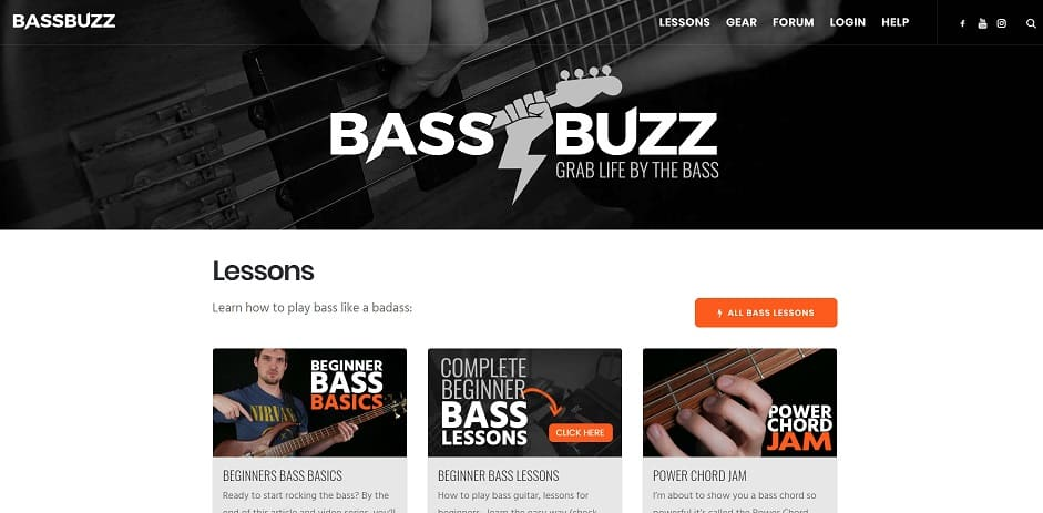 bassbuzz learn bass guitar online