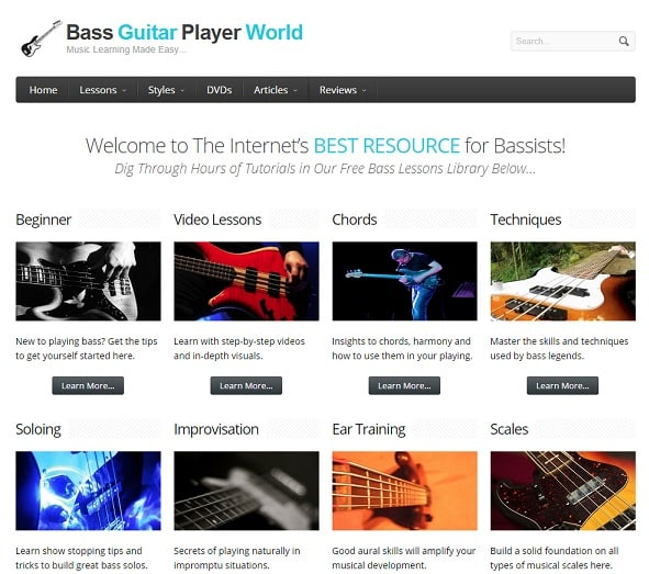 bassguitarplayerworld learn bass guitar online