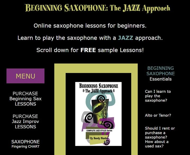 beginningsax Learn Saxophone Online