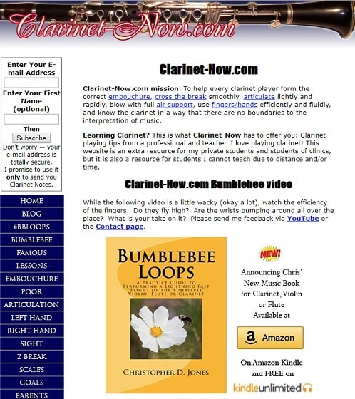 clarinet-now Learn Clarinet Online