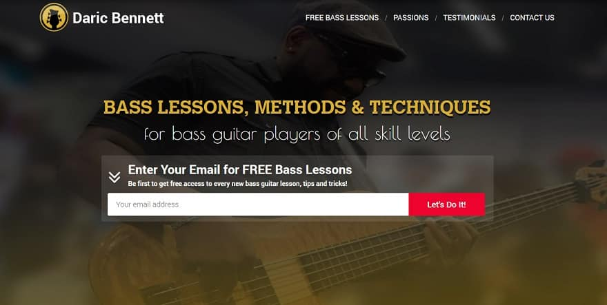 daricbennett learn bass guitar online