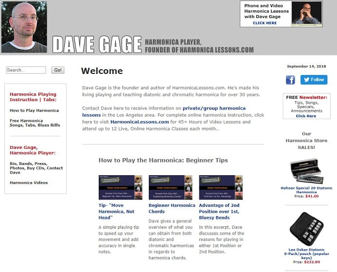 davegage learn harmonica online