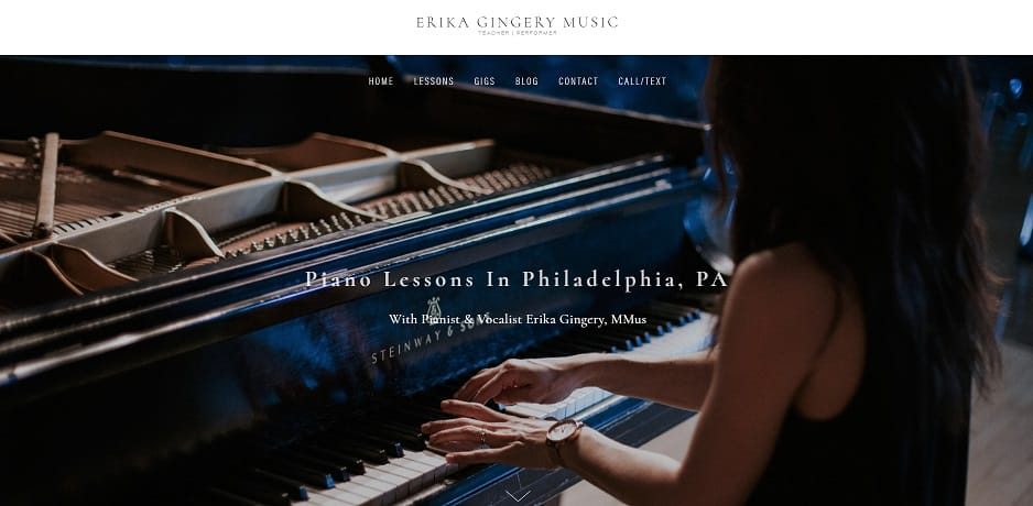 erikagingerymusic learn classical piano online