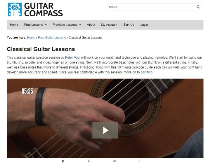 guitarcompass Learn Classical Guitar Online