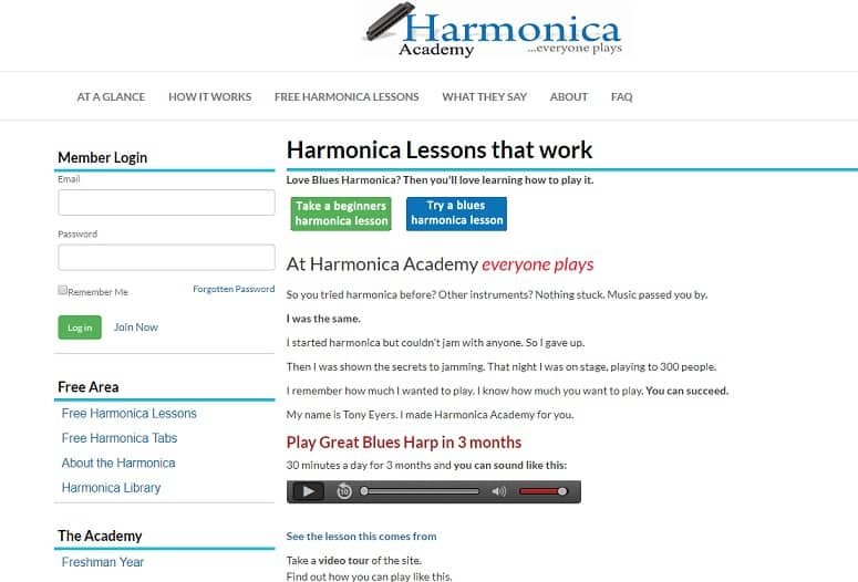 How to play the harmonica for free