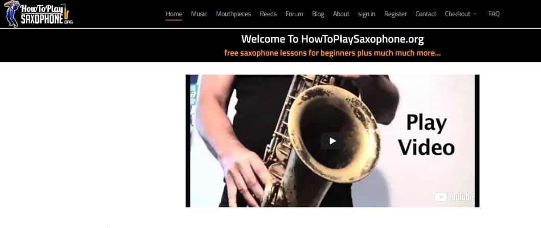 howtoplaysaxophone Learn Saxophone Online