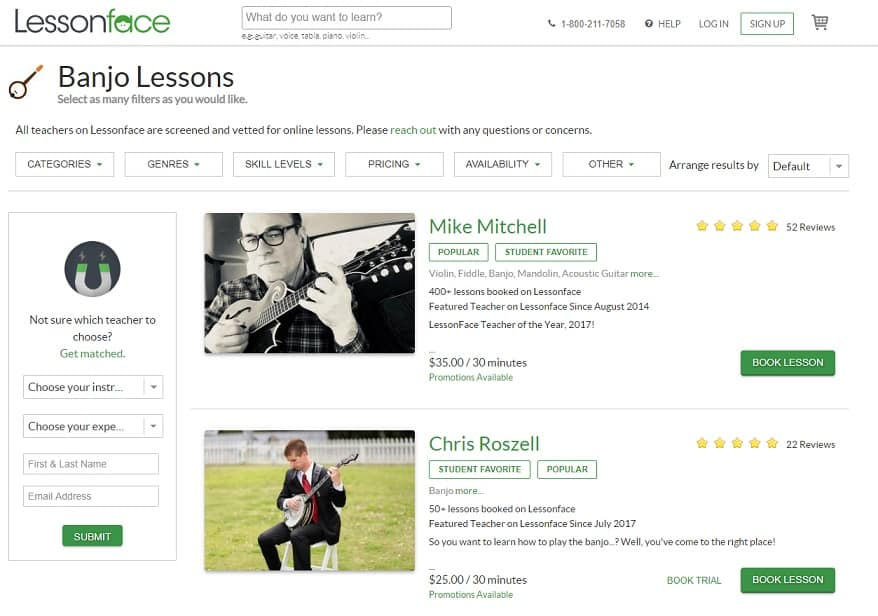 lessonface Learn Banjo Online