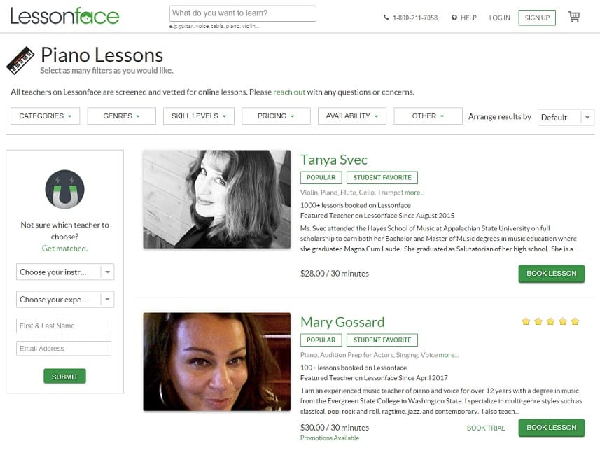 lessonface learn classical piano online
