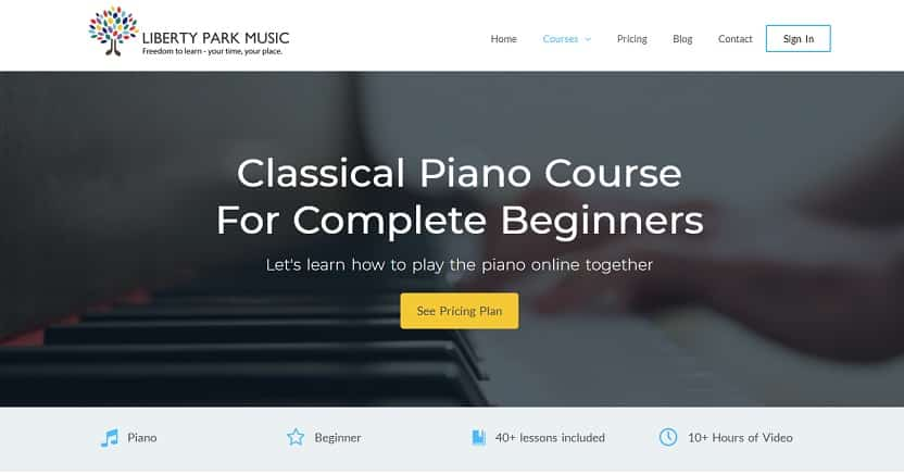 libertyparkmusic learn classical piano online
