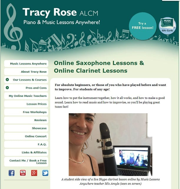 musiclessonsanywhere Learn Clarinet Online