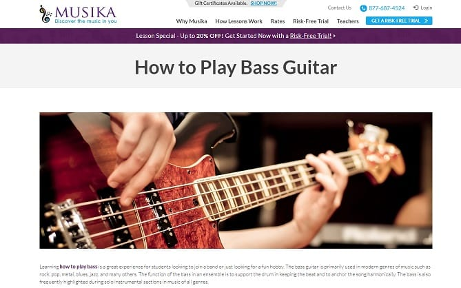 musikalessons learn bass guitar online