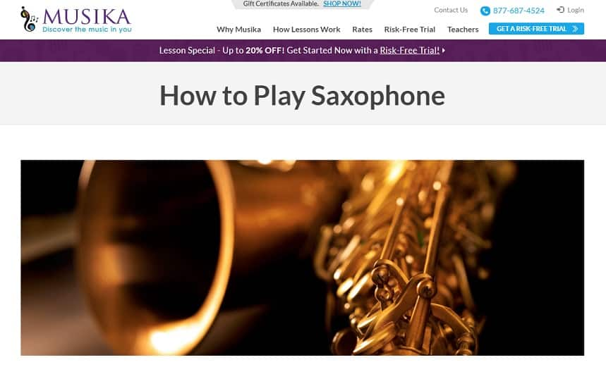 musikalessons Learn Saxophone Online