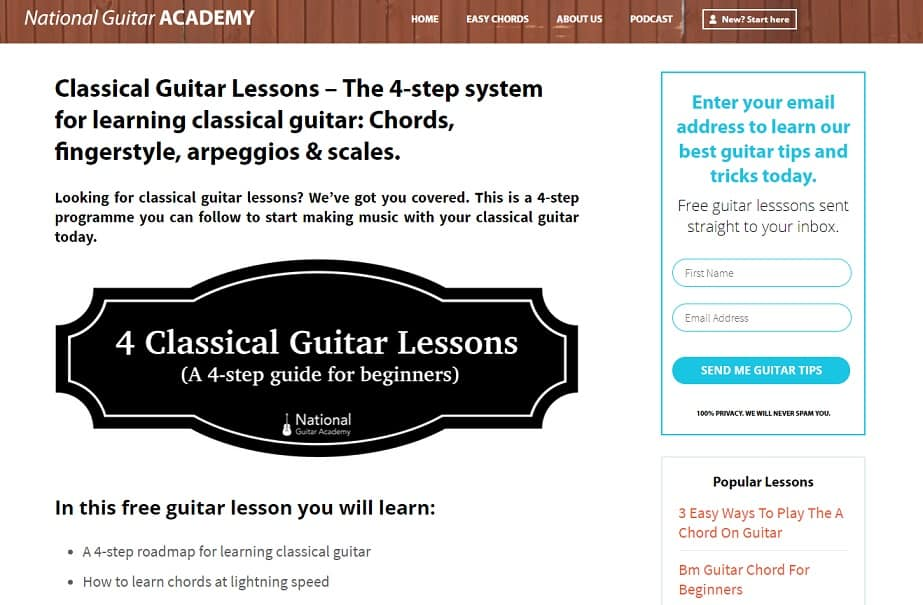 22 Websites To Learn Classical Guitar Lesson Online Free And Paid