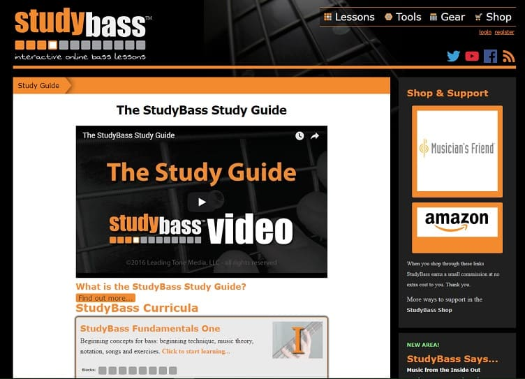 studybass learn bass guitar online