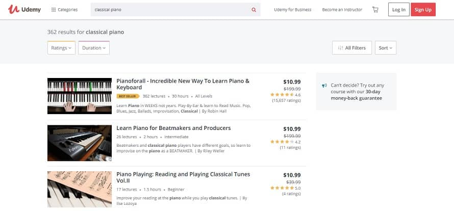 udemy learn classical piano online