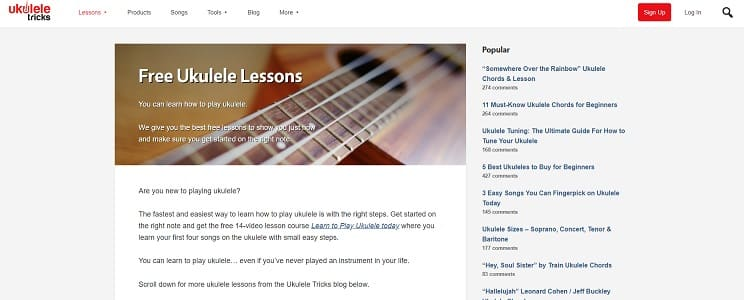 22 Websites To Learn Ukulele Lesson Online Free And Paid Ukulele