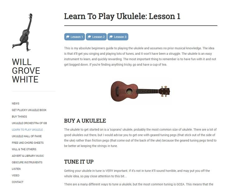 willgrovewhite learn ukulele online