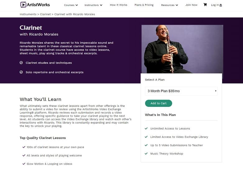 ArtistWorks Ricardo Morales Clarinet Lessons Review
