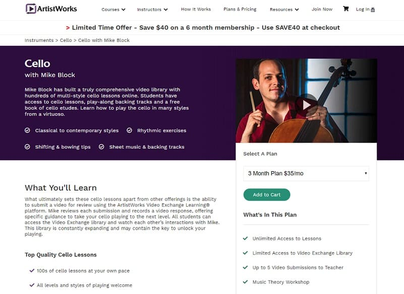 Artistworks Mike Block Cello Lesson Review