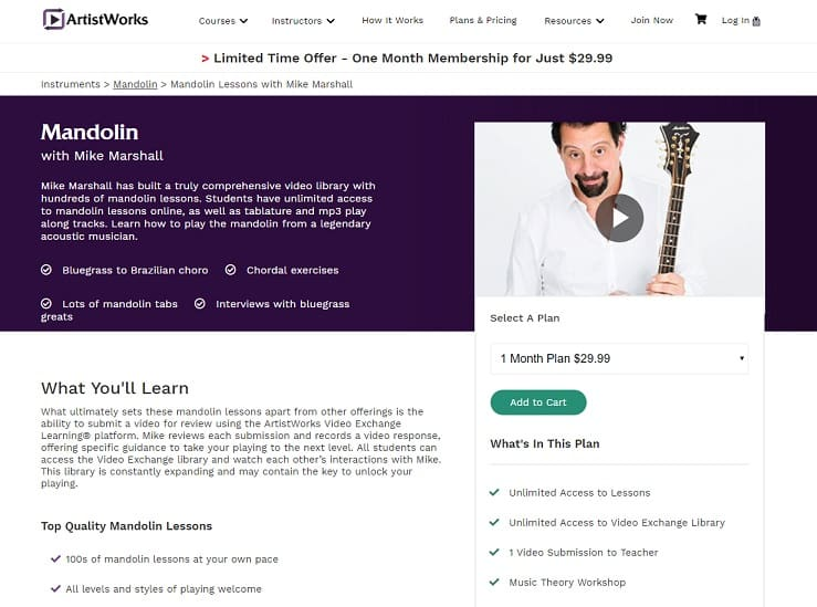 ArtistWorks Mike Marshall-Mandolin Lesson Review
