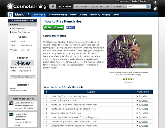 cosmolearning Learn French Horn Online