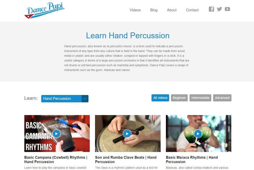 dancepapi Learn Percussion Online