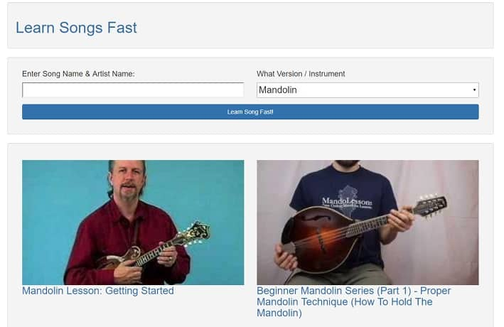 learnsongsfast Learn Mandolin Online