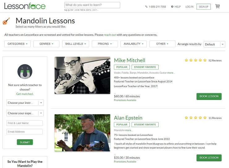lessonface Learn Mandolin Online