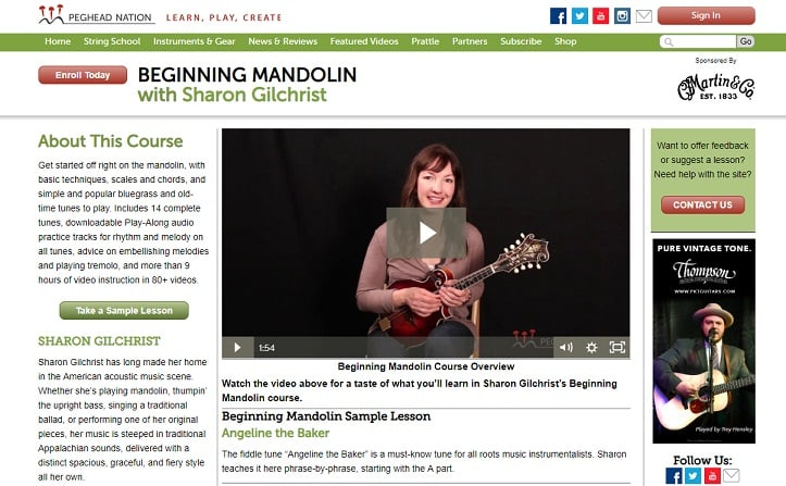 pegheadnation Learn Mandolin Online
