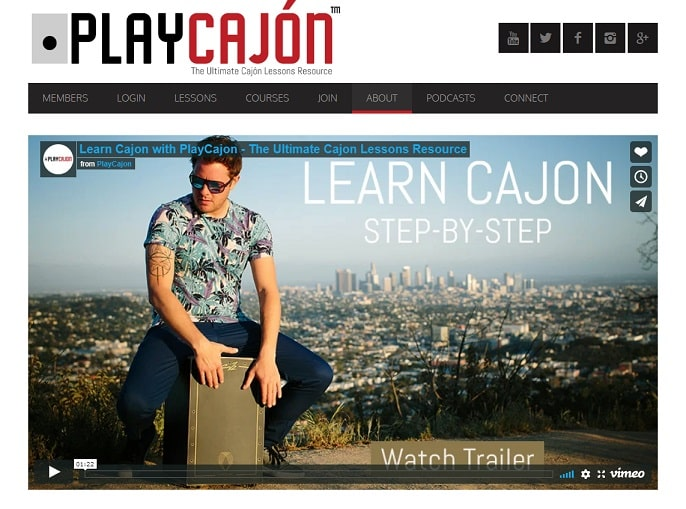 playcajon Learn Percussion Online