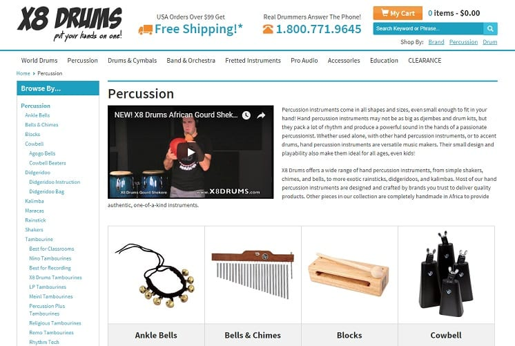 x8drums Learn Percussion Online