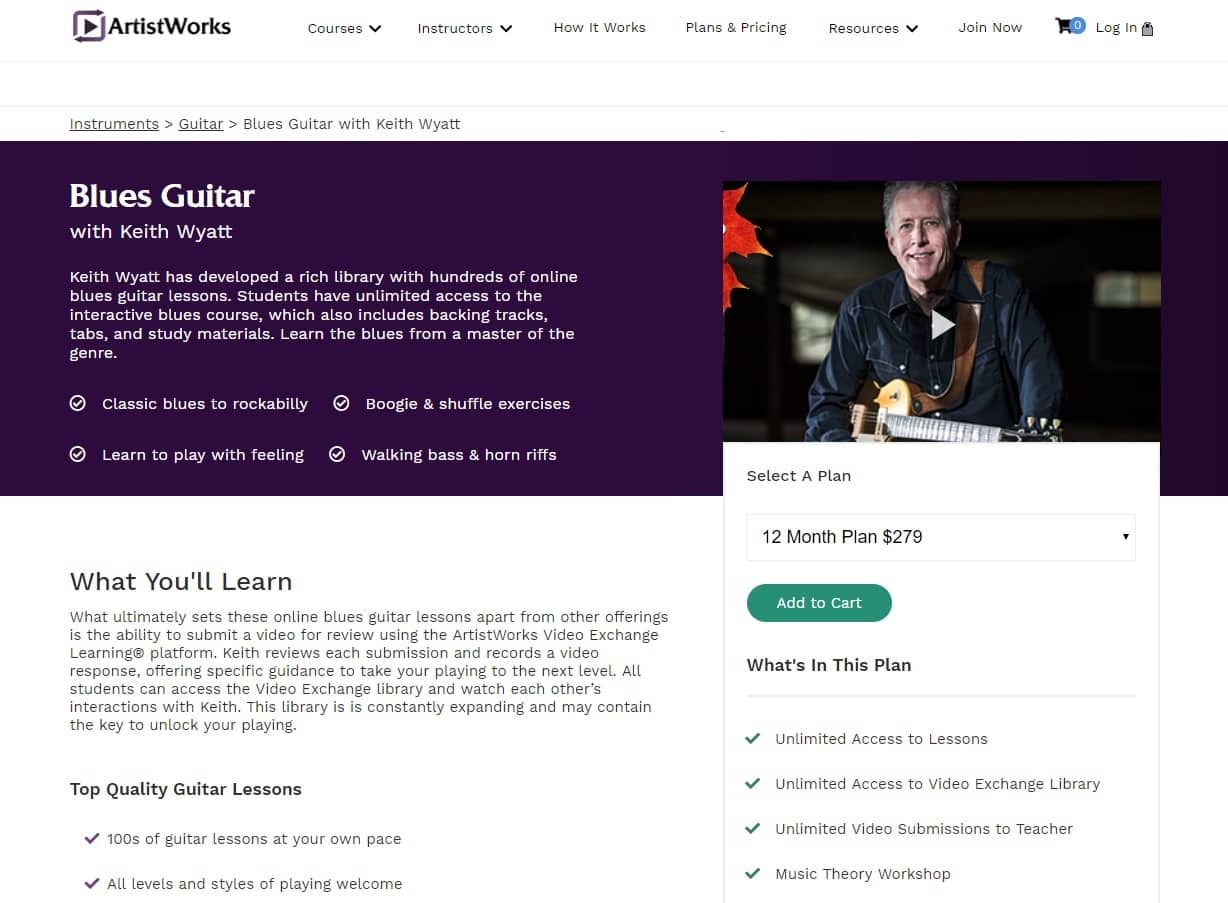 ArtistWorks Keith Wyatt Blues Guitar Lesson Review