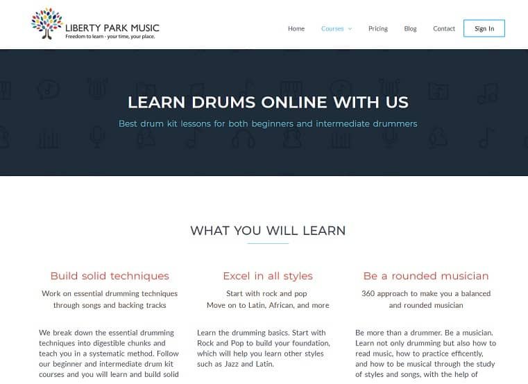 libertyparkmusic Drum Lessons for beginners