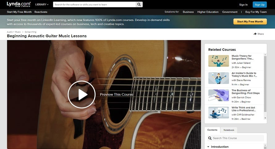 lynda Classical Guitar Lessons for Beginners