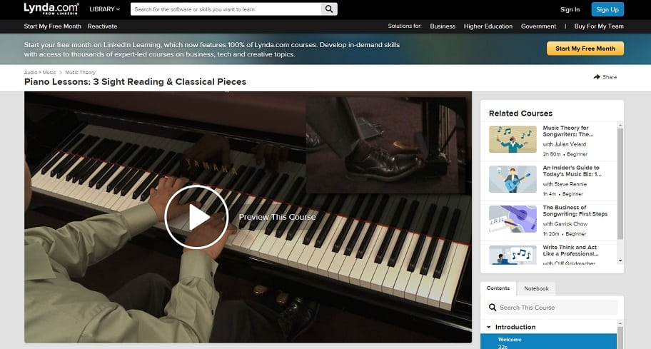 Lynda Course 2 Classical Piano Lessons for Beginners