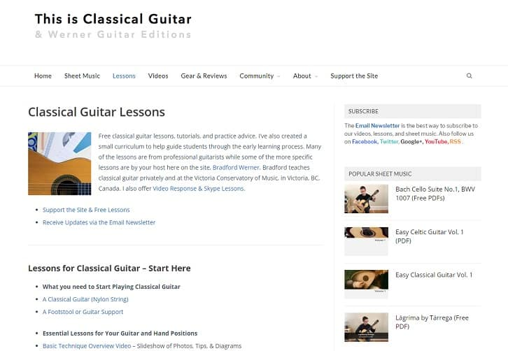 thisisclassicalguitar Classical Guitar Lessons for Beginners