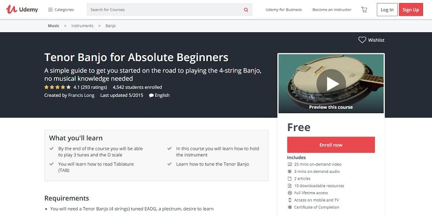 udemy-course-2 Banjo Lessons for Beginners
