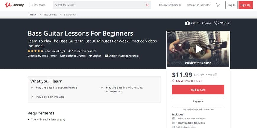udemy-course-2 Bass Guitar Lessons for Beginners