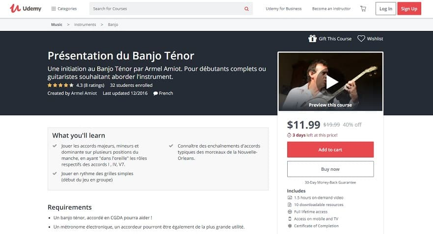 udemy-course-3 Banjo Lessons for Beginners
