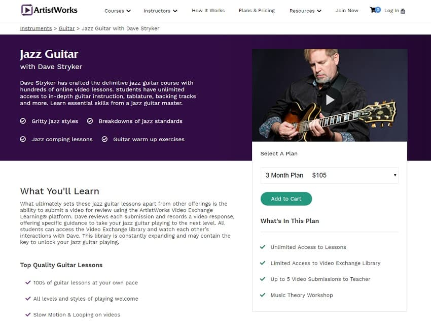 Artistworks Dave Stryker Jazz Guitar Lesson Review