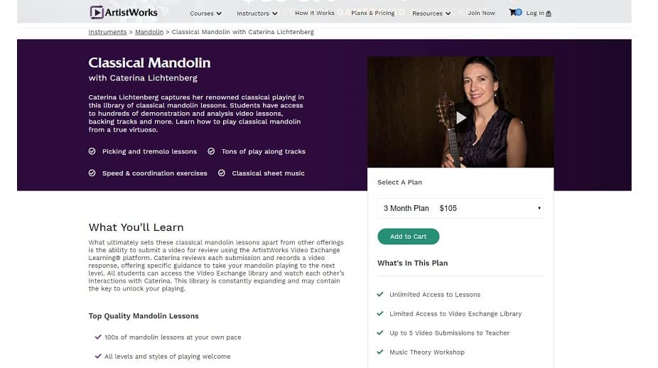 artistworks caterina Mandolin Lessons for Beginners