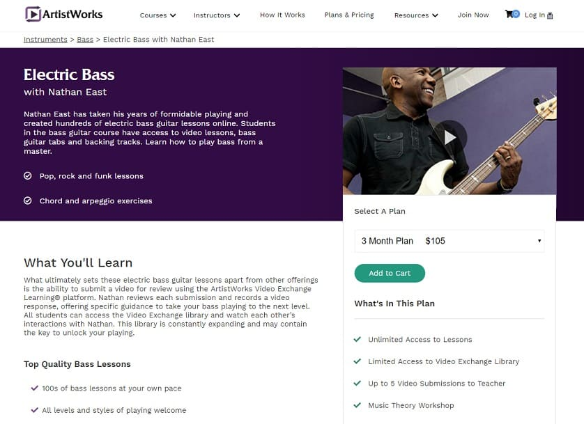 Artistworks Nathan East Electric Bass Lesson Review