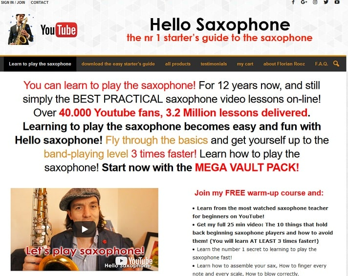 hellosaxophone Saxophone Lessons for Beginners