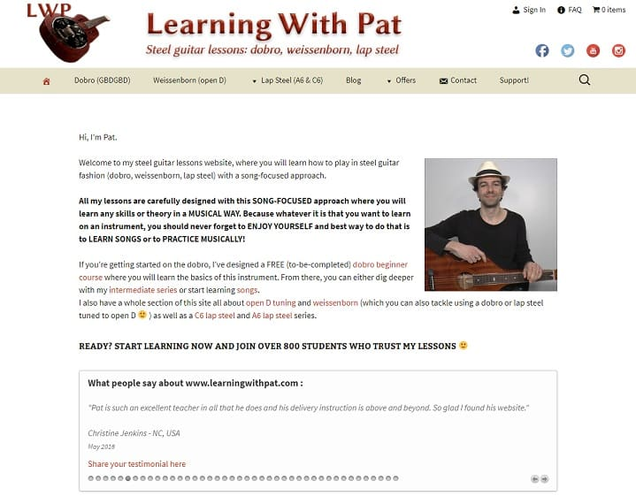 learningwithpat Dobro Lessons for Beginners
