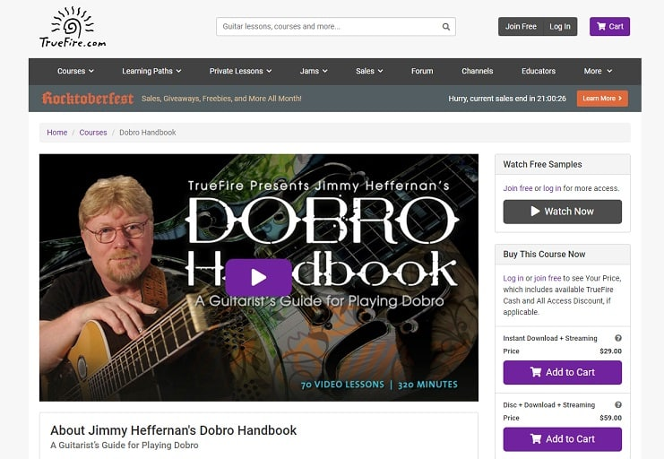 truefire Dobro Lessons for Beginners