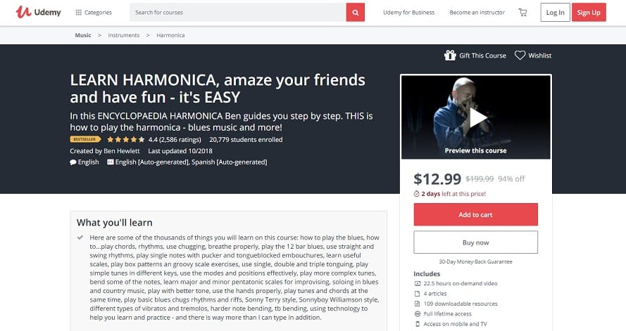 udemy-course-1 Harmonica Lessons for Beginners