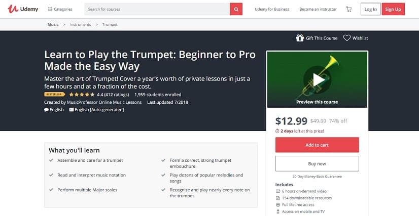 udemy-course-1 Trumpet Lessons for Beginners